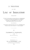 A Treatise on the Law of Irrigation PDF