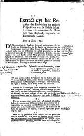 Resolutie van de heeren gecommitteerde Raaden. Instructie en ordonnantie voor de officieren van justitie nader gearresteert. 2 junii 1728