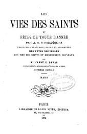 Les vies des saints et fêtes de toute l'année: Volume3
