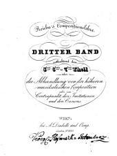 Vollständiges Lehrbuch der musikalischen Composition: 3. Teil 5 - 7