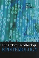 The Oxford Handbook of Epistemology PDF