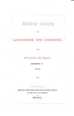 Transactions of the Historic Society of Lancashire and Cheshire PDF