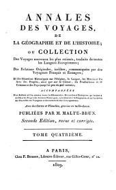 Annales des voyages de la géographie et de l'histoire: Volume4