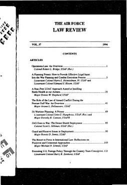 The Air Force Law Review PDF