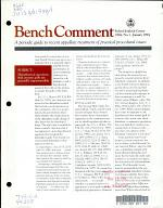 Bench comment