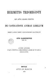 Hermetis Trismegisti qui apud Arabes fertur de castigatione Animae libellum edidit: Latine vertit
