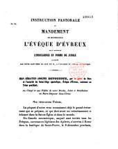 Instruction pastorale et mandement...: pour annoncer l'indulgence en forme de jubilé accordée par ... le Pape Pie IX à l'occasion du Concile Oecuménique