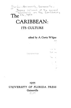 The Caribbean  Its Culture PDF