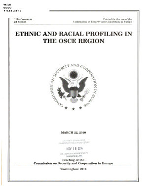 Ethnic and Racial Profiling in the OSCE Region
