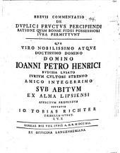 Brevis commentatio de duplici fructus percipiendi ratione, quam bonae fidei possessori iura permittunt