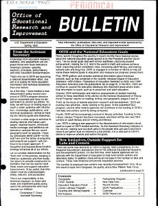 Office of Educational Research and Improvement Bulletin PDF