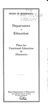 Plans for Vocational Education in Minnesota