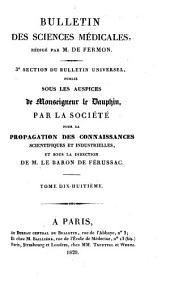 Bulletin des sciences médicales: troisième section du Bulletin universel des sciences et de l'industrie, Volume18