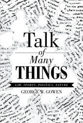 Talk Of Many Things Book PDF