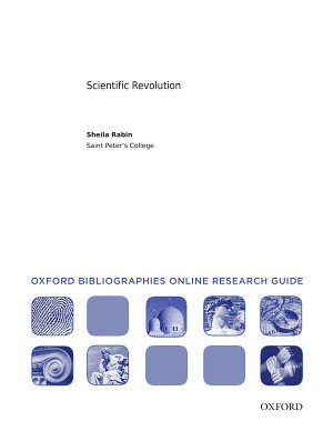 Scientific Revolution  Oxford Bibliographies Online Research Guide PDF