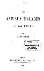 Les animaux malades de la peste