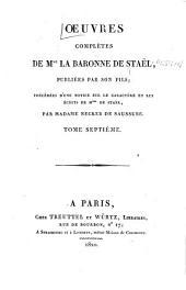 Œuvres complètes de Mme la baronne de Staël