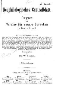 Neuphilologisches zentralblatt PDF