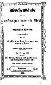 Wochenbände für das geistige und materielle Wohl des deutschen Volkes: Bände 121-122