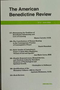 The American Benedictine Review PDF