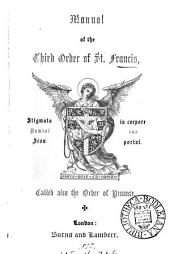 Manual of the Third order of st. Francis