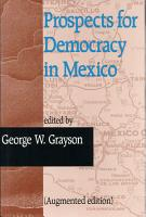 Prospects for Democracy in Mexico PDF