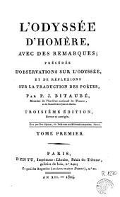 L'Odyssée d'Homère: avec des remarques, Volume3