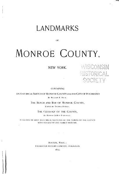 Download Landmarks of Monroe County  New York Book