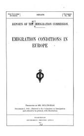 Emigration conditions in Europe