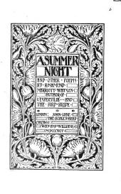 A Summer Night: And Other Poems