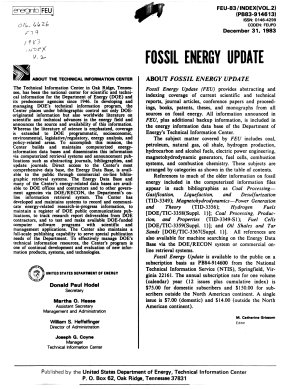 Fossil Energy Update