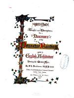 Sketches, Graphic and Descriptive, &c. for a History of the Decorative Painting