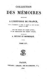 Collection des mémoires relatifs à l'histoire de France: Mémoires du marquis de LaFare. Mémoires du maréchal de Berwick : t. I. Mémoires de la cour de France, Volume65
