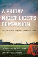 A Friday Night Lights Companion PDF