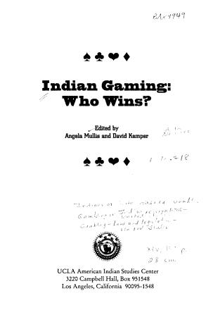 Indian Gaming PDF
