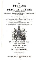 The Peerage of the British Empire to which is added the Baronetage