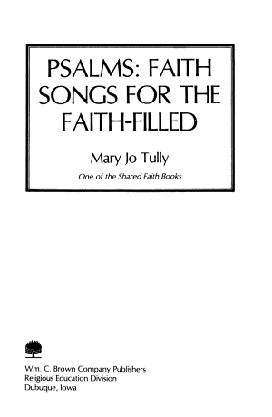 Psalms  Faith Songs for the Faith filled PDF