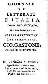 Giornale de'letterati d'Italia: Volume 18