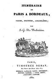 Itinéraire de Paris à Bordeaux, Tours, Poitiers, Angoulème