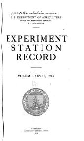 Experiment Station Record: Volume 28