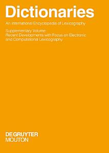 Dictionaries  An International Encyclopedia of Lexicography PDF