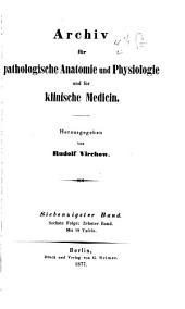 Archiv für pathologische Anatomie und Physiologie und für klinische Medizin: Band 70