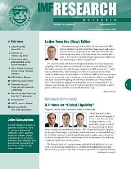 IMF Research Bulletin  September 2014 PDF