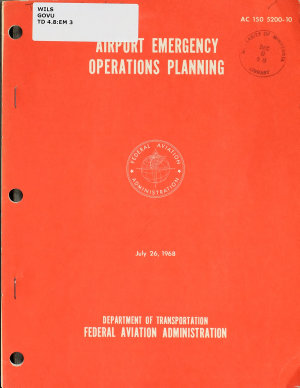 Airport Emergency Operations Planning PDF