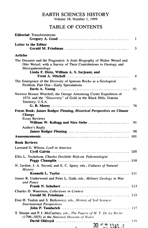 Earth Sciences History PDF