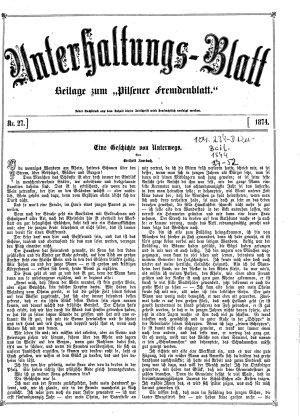 Pilsner Fremdenblatt  zugleich Adre  en Zeitung PDF