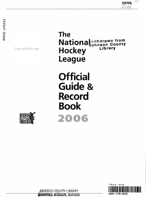 The National Hockey League Official Guide   Record Book PDF