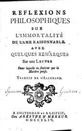 Réflexions philosophiques sur l'immortalité de l'âme raisonnable