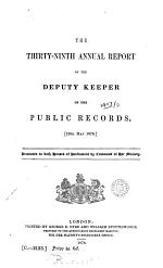 First (-120th) report of the deputy keeper of the public records