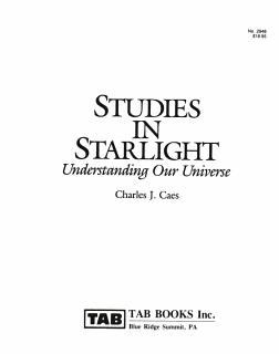 Studies in Starlight Book